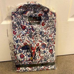 Men's Vintage Long Sleeve Shirt~ Slim Fit (NEW)